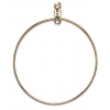 Earhoops Round Gold 38mm
